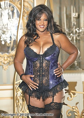 Broderad bustier, plus size, 5